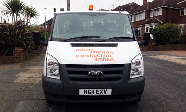 Robert Simpsom Construction Truck